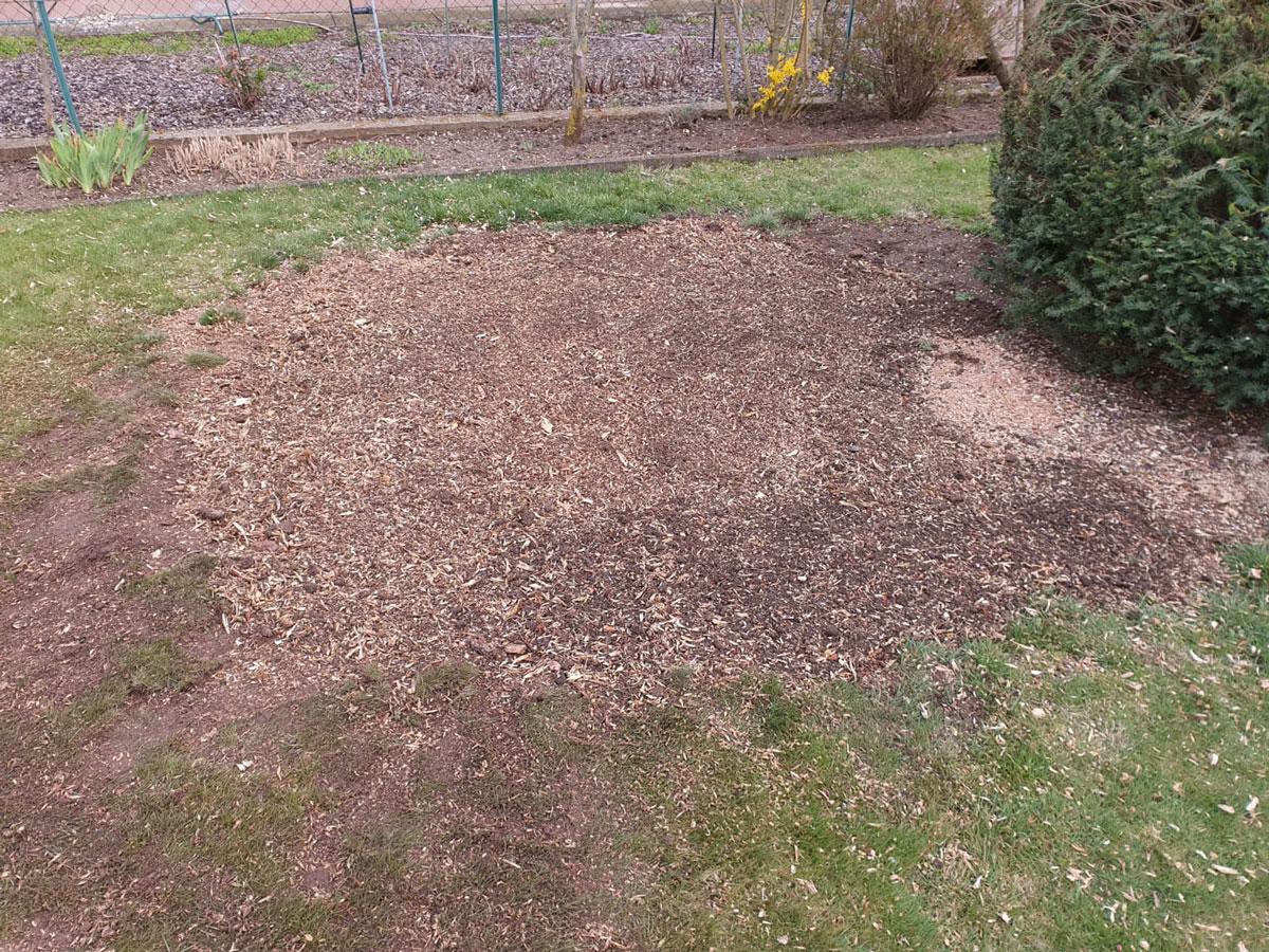 Gartenboden nach Baumwurzelentfernung